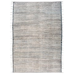 Large Modern Ivory Moroccan-Style Berber Rug
