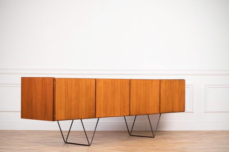 Large Modern Midcentury Sideboard Minimal Design For Sale 6