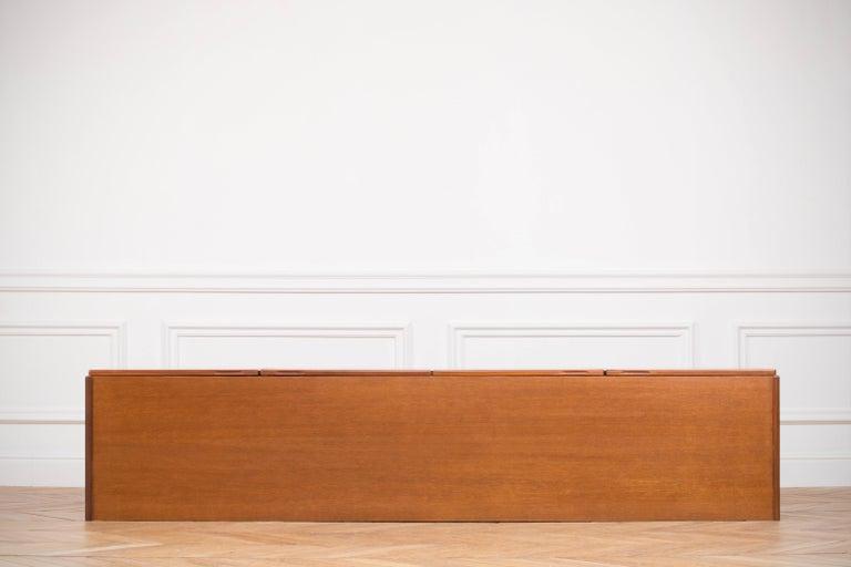 Large Modern Midcentury Sideboard Minimal Design For Sale 9
