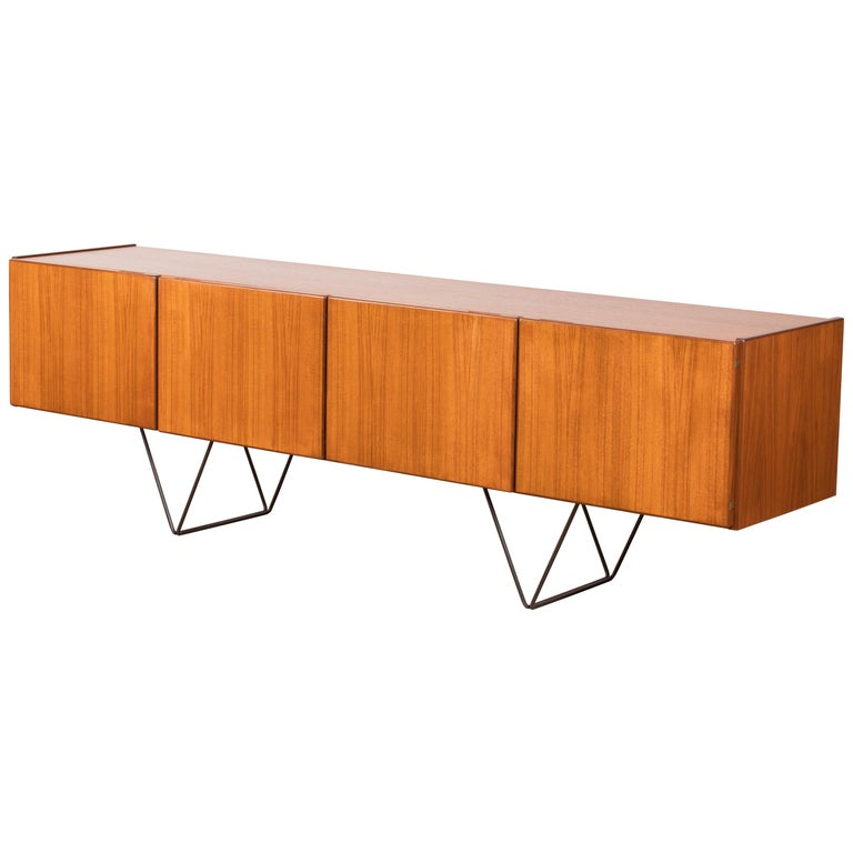 Mid-Century Modern Large Modern Midcentury Sideboard Minimal Design For Sale