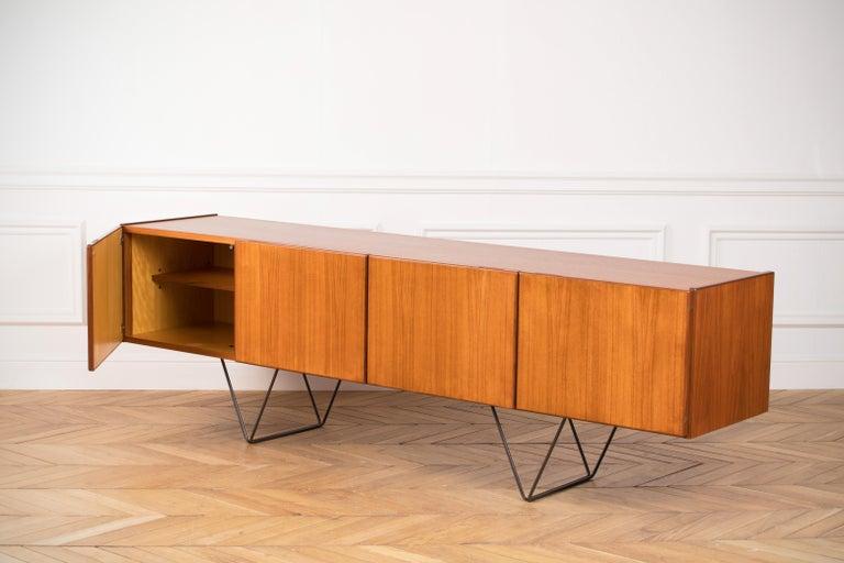 German Large Modern Midcentury Sideboard Minimal Design For Sale