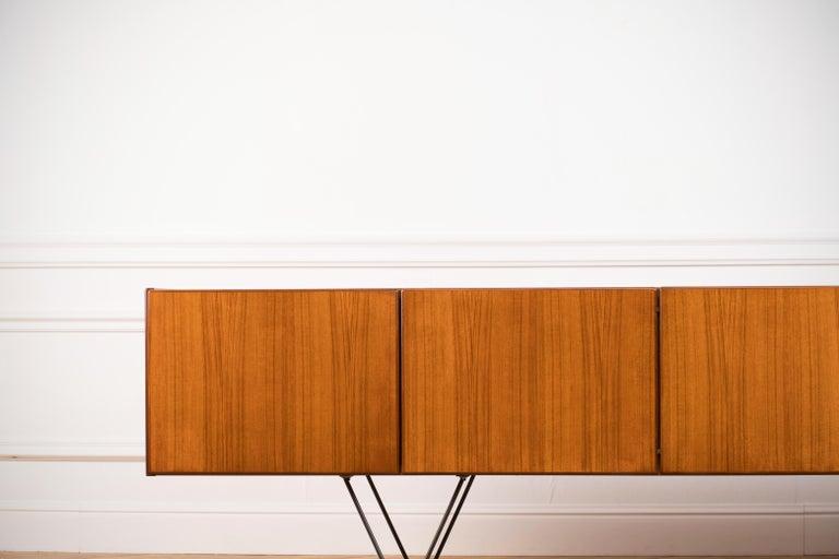 Mid-20th Century Large Modern Midcentury Sideboard Minimal Design For Sale