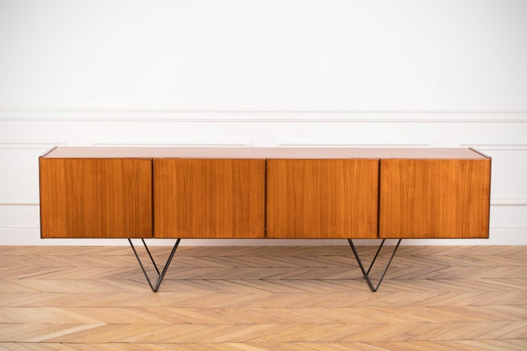 Large Modern Midcentury Sideboard Minimal Design For Sale 1