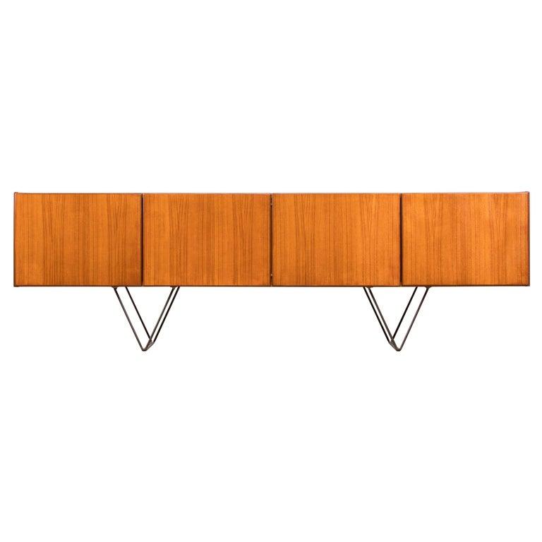 Large Modern Midcentury Sideboard Minimal Design For Sale