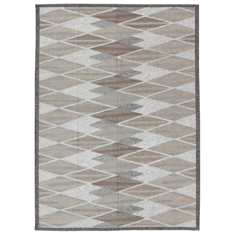 Swedish Geometric Design Rug