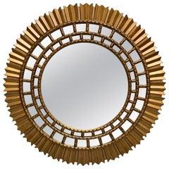 Large Modern Sunburst Mirror