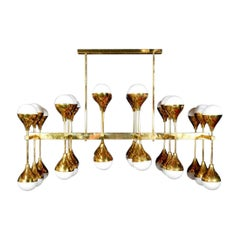 Large Moderne Horizontal Chandelier
