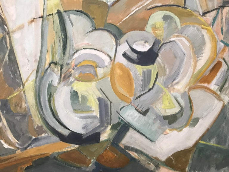 Large Modernist Abstract Expressionist Oil Painting Still Life For Sale 1