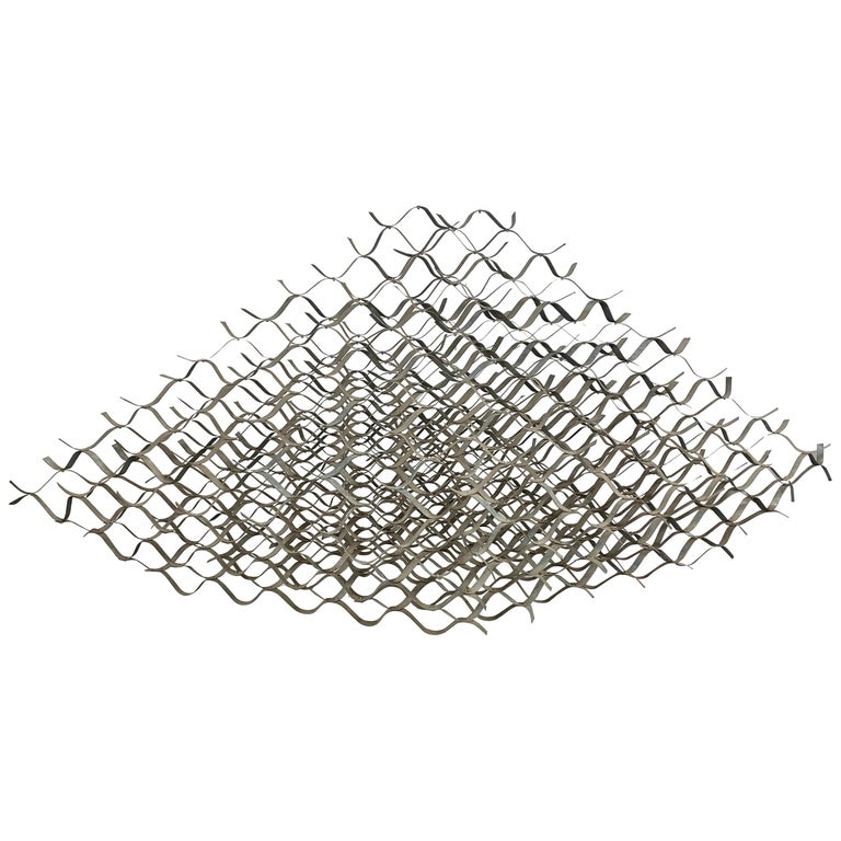"Large Modernist Abstract Sculpture ""INNERWOVEN STRUCTURE"" by Duayne Hatchett For Sale"
