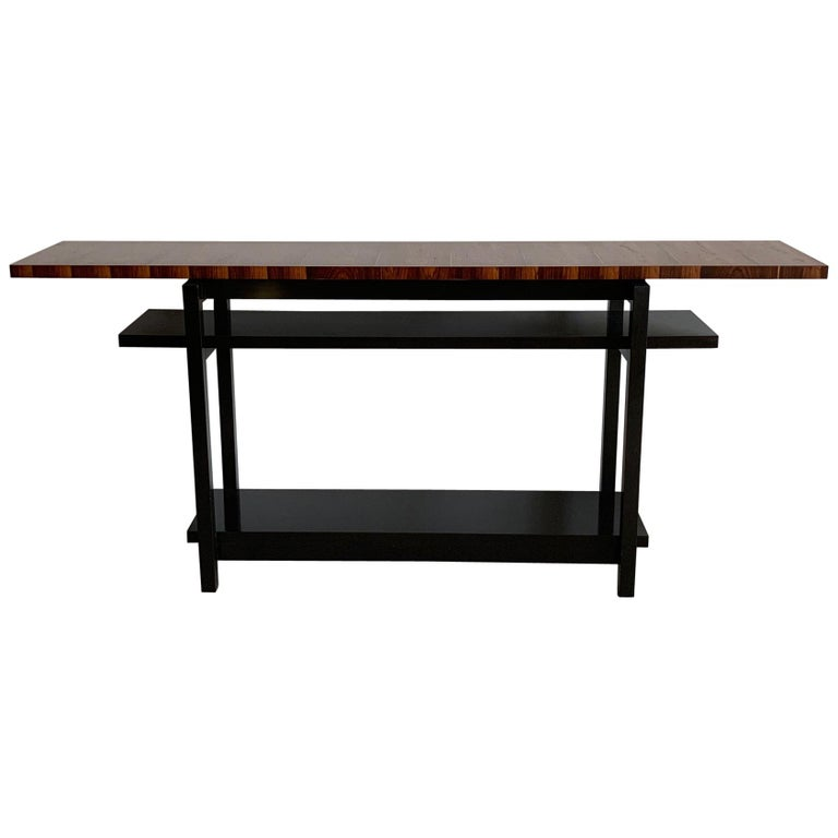 Large Modernist Console Table with Floating Top