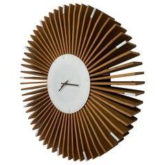 Large Modernist Custom Wall Clock, Manner of George Nelson, Irving Harper