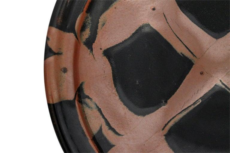 Large Modernist Japanese Ceramic Charger For Sale 6