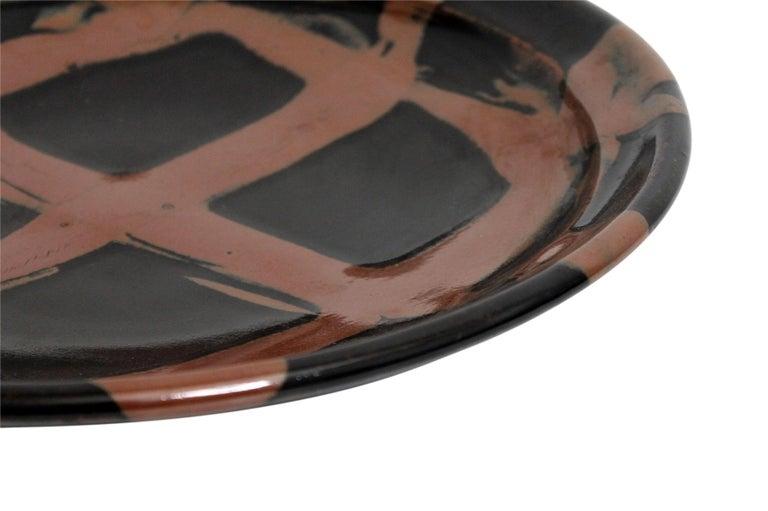 Large Modernist Japanese Ceramic Charger For Sale 7