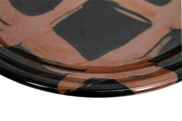 Large Modernist Japanese Ceramic Charger For Sale 8