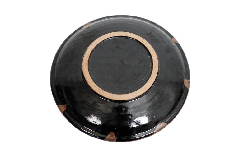Large Modernist Japanese Ceramic Charger For Sale 9
