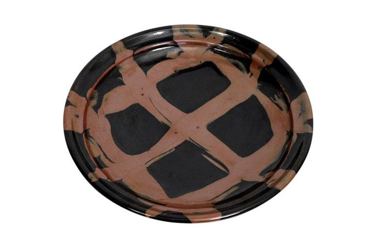 Large Modernist Japanese Ceramic Charger For Sale 1