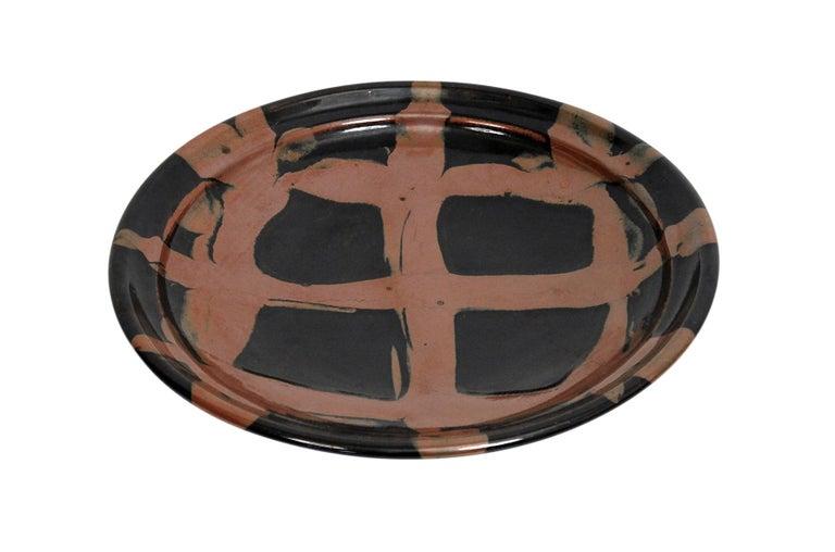 Large Modernist Japanese Ceramic Charger For Sale 2
