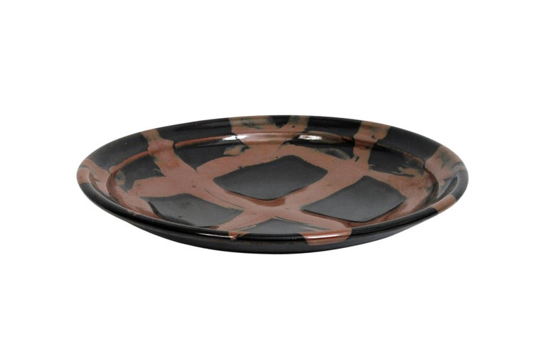 Large Modernist Japanese Ceramic Charger For Sale 3