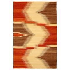 Large Modernist Kilim Rug