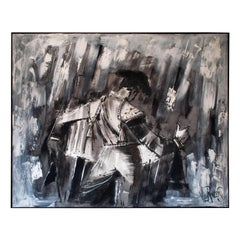 Large Modernist Matador Oil on Canvas Painting by Lee Reynolds