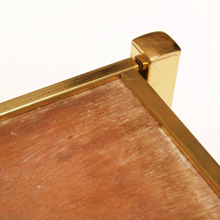 Very Large Brass Drinks Serving Tray by Jacques Adnet For Sale 6