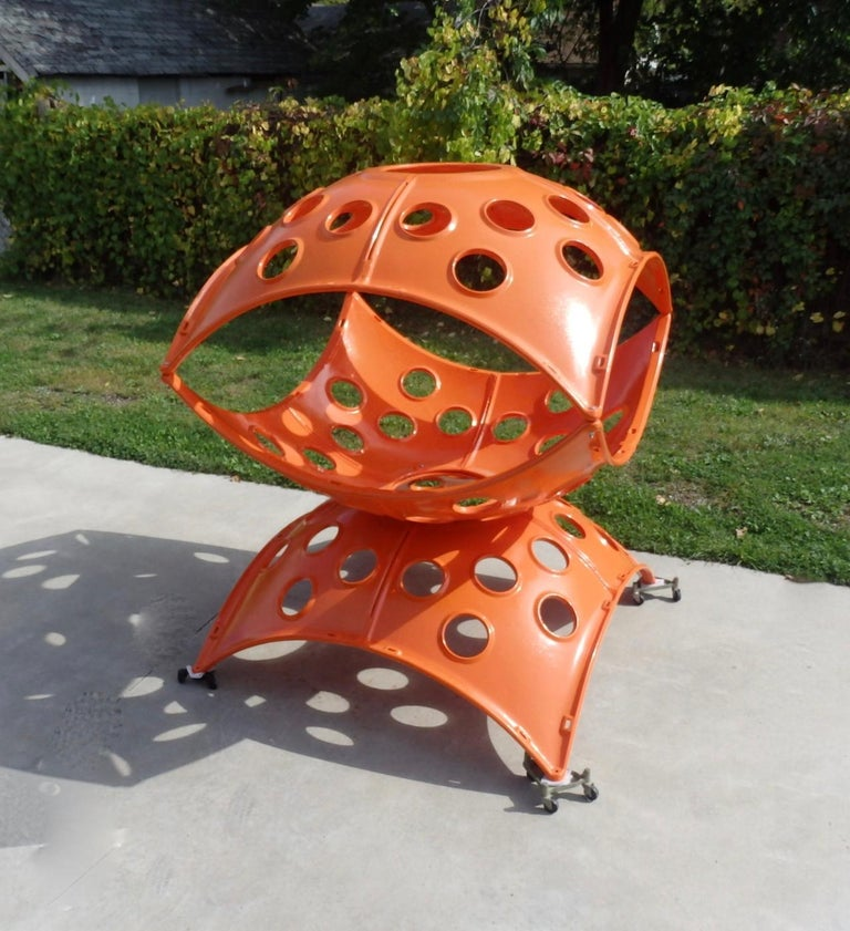 Large Modular Cast Aluminum Orange Yard Art Indoor Outdoor Playground Sculpture For Sale 3