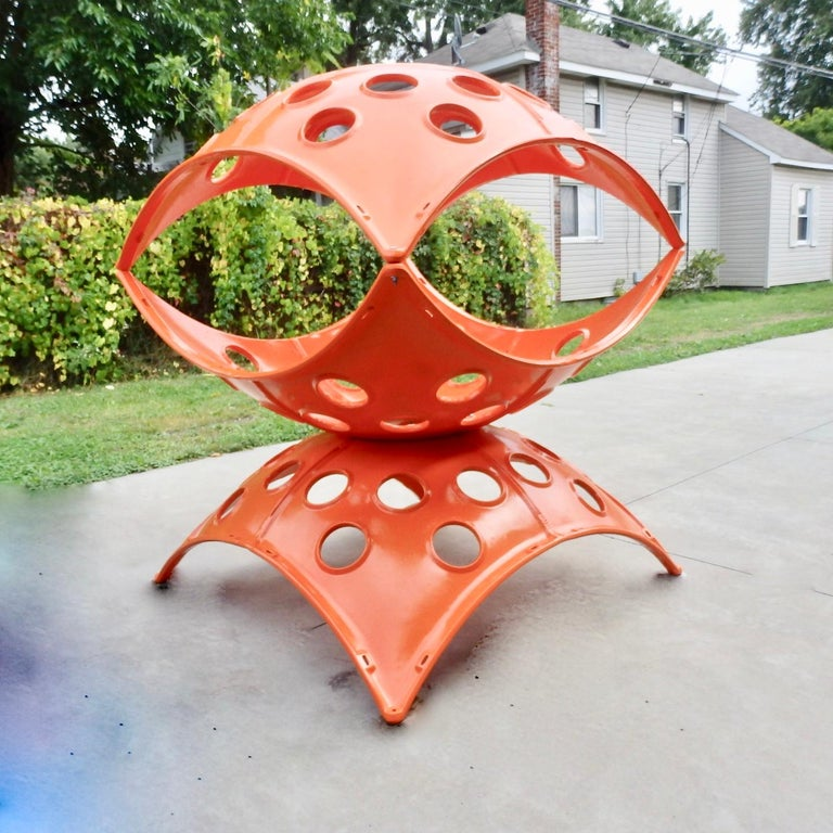 Large Modular Cast Aluminum Orange Yard Art Indoor Outdoor Playground Sculpture For Sale 5
