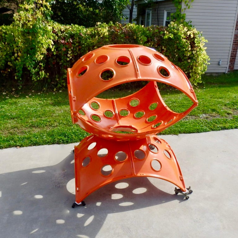 American Large Modular Cast Aluminum Orange Yard Art Indoor Outdoor Playground Sculpture For Sale