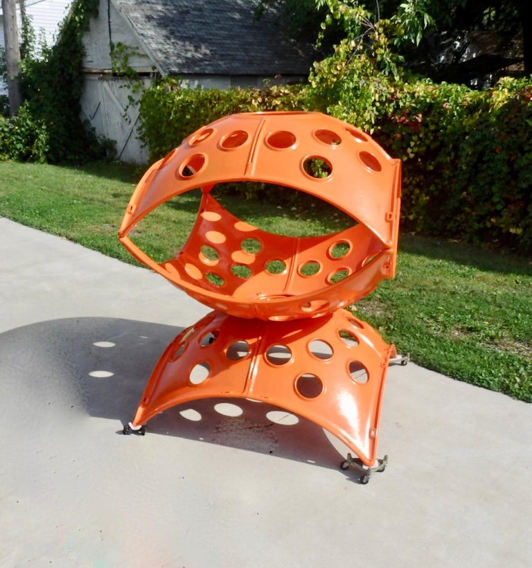 Large Modular Cast Aluminum Orange Yard Art Indoor Outdoor Playground Sculpture For Sale 1