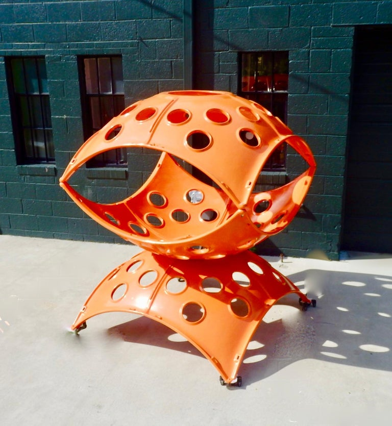 Large Modular Cast Aluminum Orange Yard Art Indoor Outdoor Playground Sculpture For Sale 2