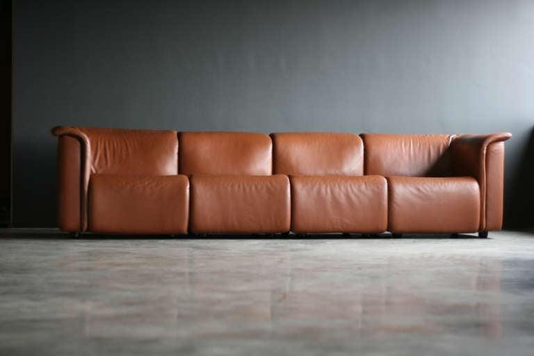 Large Modular Sofa by Wittmann Moebelwerkstaetten In Good Condition For Sale In Dronten, NL