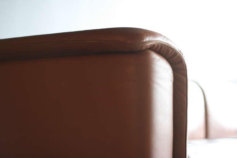 Leather Large Modular Sofa by Wittmann Moebelwerkstaetten For Sale