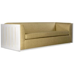 Large Monterey Sofa in Beige with Lacquered Finish by Innova Luxuxy Group