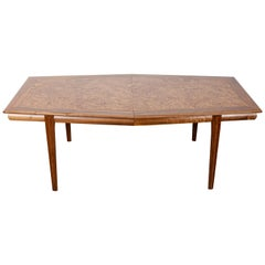 Large Monteverdi-Young Walnut Burl Dining Table