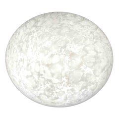 "Large ""Moon"" Satin Glass Flush Mount, 1980s, Bankamp Leuchten, Germany"