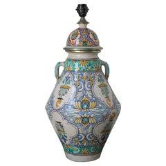 Large Moroccan Ceramic Table Lamp with Moorish Spanish Granada Design