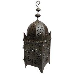 Large Moroccan Hurricane Metal Candle Kasbah Lantern