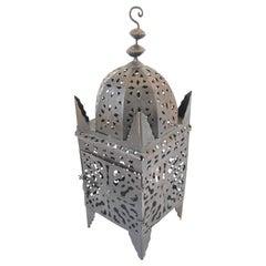 Large Moroccan Moorish Hurricane Metal Candle Lantern