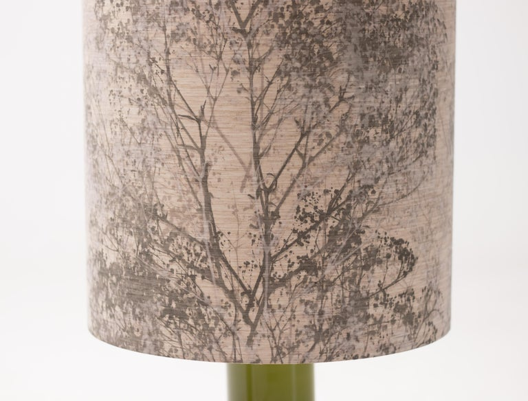 Late 20th Century Large Moss Holmegaard Table Lamp For Sale