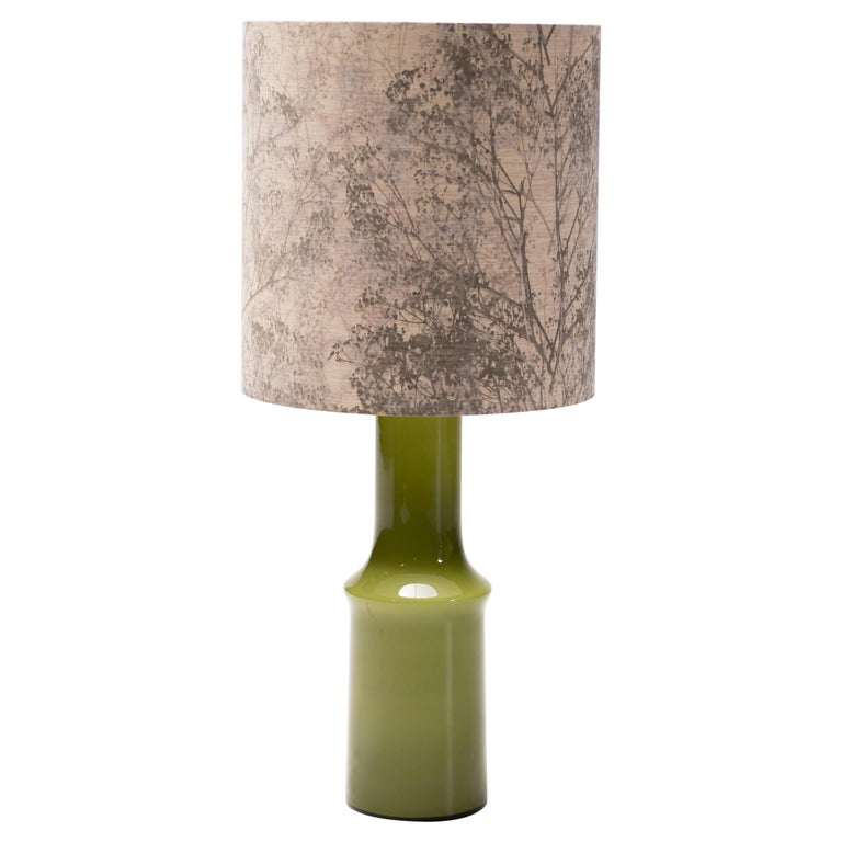 Large Moss Holmegaard Table Lamp For Sale