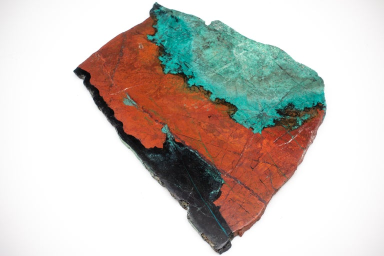 Mexican Large Mounted Cuprite Chrysocolla Specimen For Sale