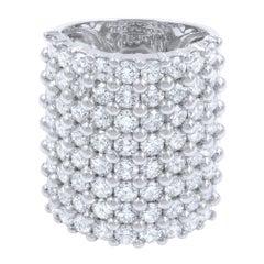 Large Multi Row Diamond Fashion Ring 6.54cts 18KW