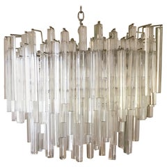 Large Multi Tiered Murano Glass Chandelier