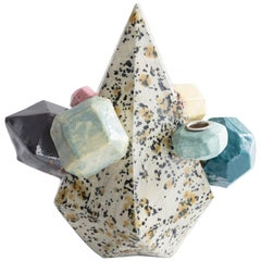 Large Multi-Color Gem Cluster in Glazed Ceramic by Kelly Lamb, 2017