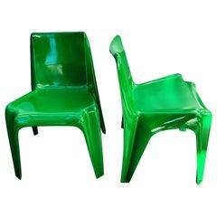 Large Multicolor Set of BA 1171 Chair by Helmut Bätzner for Bofinger, 1960s