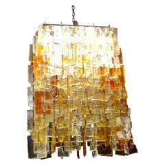 Large Multicolored Murano Glass Chandelier Chandelier-Carlo Nason for Mazzega