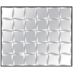 Large Multipanel Wall Mirror Wit Beveled Edges