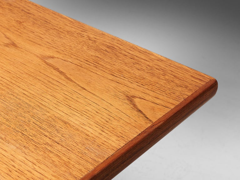 Mid-20th Century Large Danish Conference or Dining Table in Oak For Sale