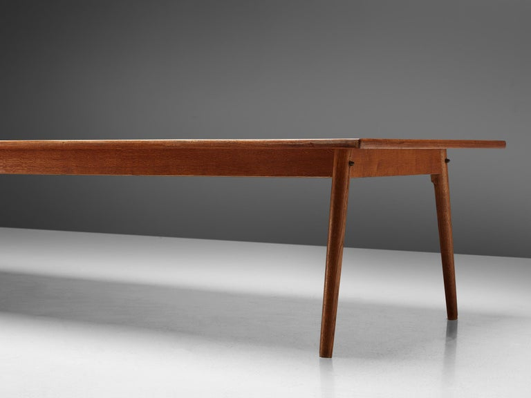 Large Danish Conference or Dining Table in Oak For Sale 1