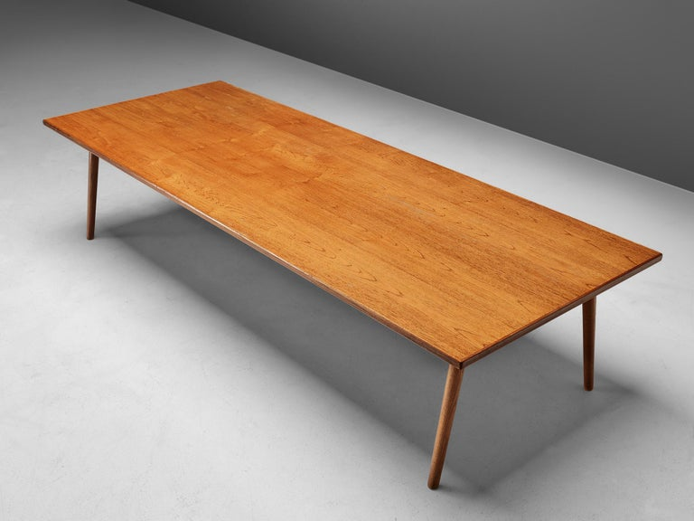 Large Danish Conference or Dining Table in Oak For Sale 2